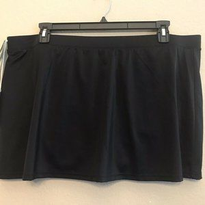 Caribbean Joe Ladies 24W Swim Skirt Skort Shorts B